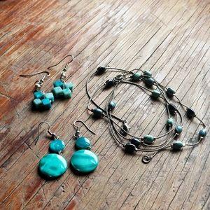 Teal Blue Jewelry Bundle Set